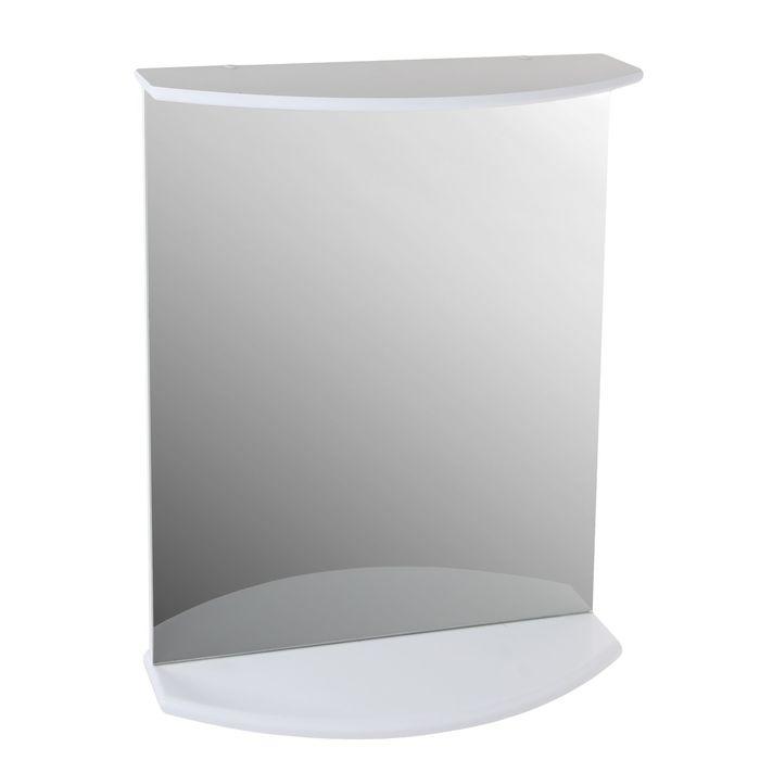 Зеркало с полкой Лидер 55 Белый