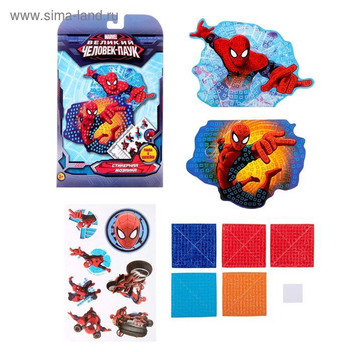 Мозаика стикерная форменная, Человек-Паук, + наклейки