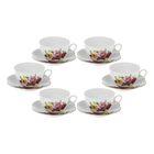 """Сервиз чайный """"Пышный букет"""", 12 предметов: 6 чашек 240 мл, 6 блюдец"""