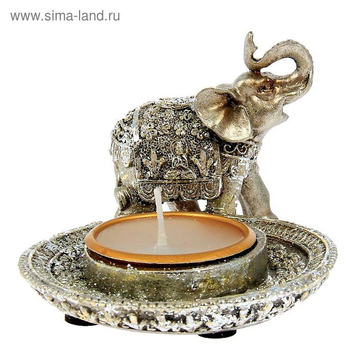 """Сувенир """"Слон Кришна"""" со свечой"""