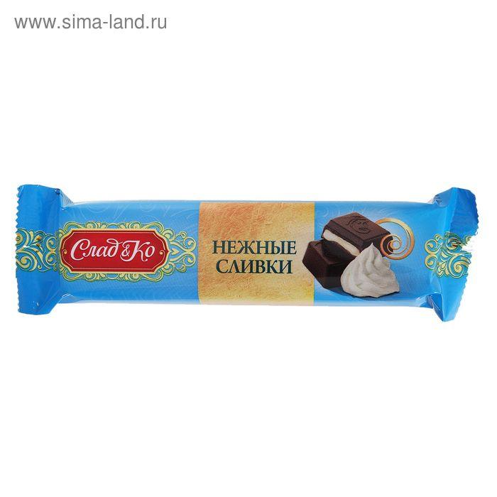 """Шоколад """"Сладко"""" тёмный с начинкой Нежные сливки, 50 г"""