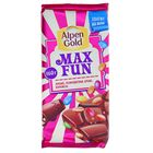 Шоколад Alpen Gold Max Fun, арахис, драже, карамель, 160 г
