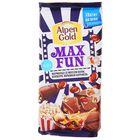 Шоколад Alpen Gold Max Fun, мармелад со вкусом колы, попкорн, карамель, 160 г