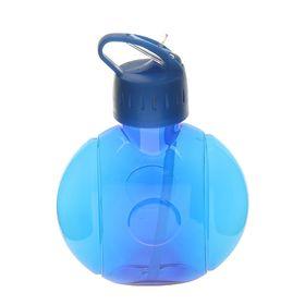 Фляжка-бутылка круглая, 650 мл, синяя Ош