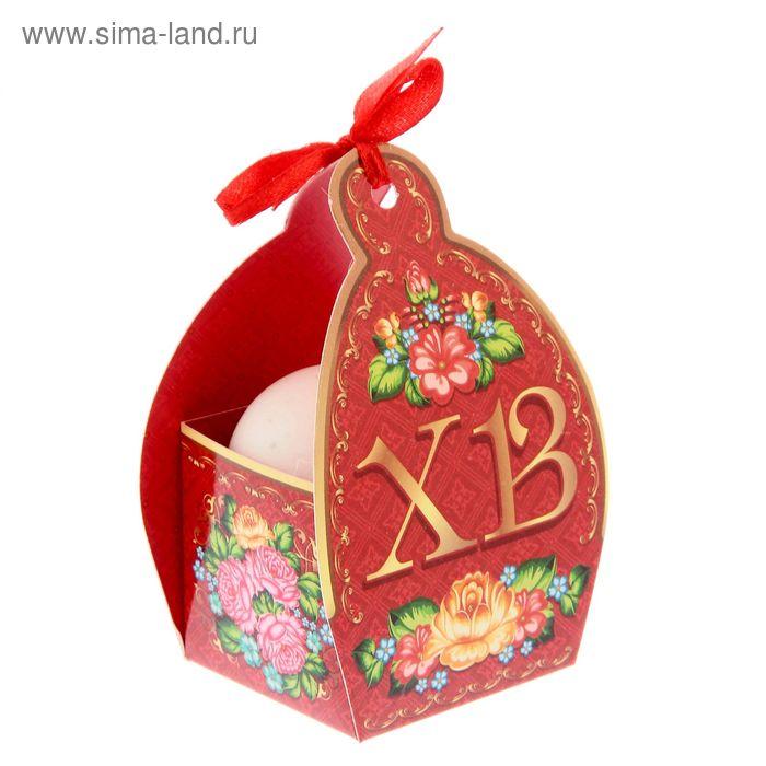 """Коробочка подарочная для яйца """"Христос Воскресе!"""" цветы"""