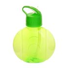 Фляжка-бутылка круглая, 650 мл, зелёная