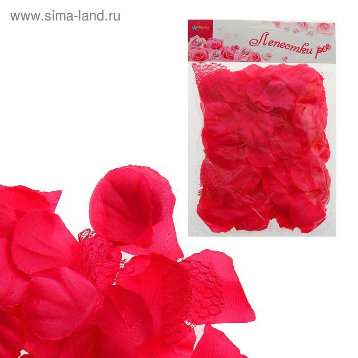 Лепестки роз, цвет фуксии