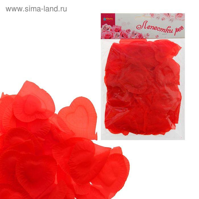 Лепестки в форме сердца, цвет красный