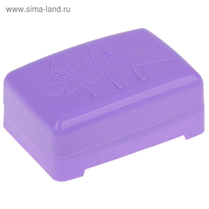 """Мыльница """"Водяная лилия"""" 12,5х8х4,5 см, цвета МИКС"""