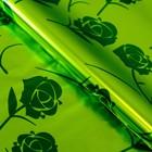 "Бумага голографическая ""Цветы"", цвет зелёный, 70 х 100 см"