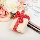 """Коробка подарочная """"Бант в горошек"""", цвет красный, 9 х 9 х 5,5 см"""