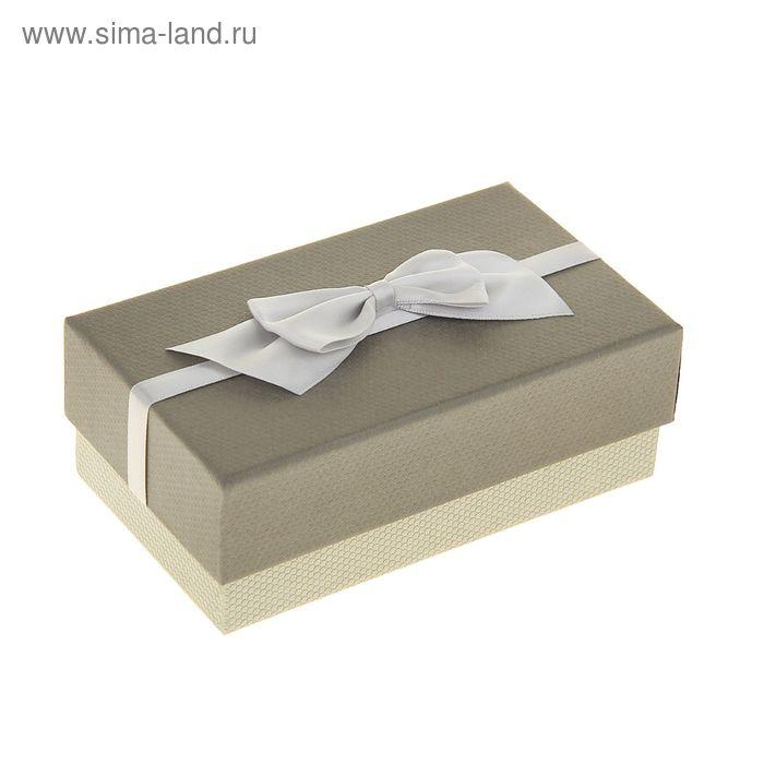 "Коробка подарочная прямоуг 9 х 15 х 5,5 см ""Бантик"", цвет серый"