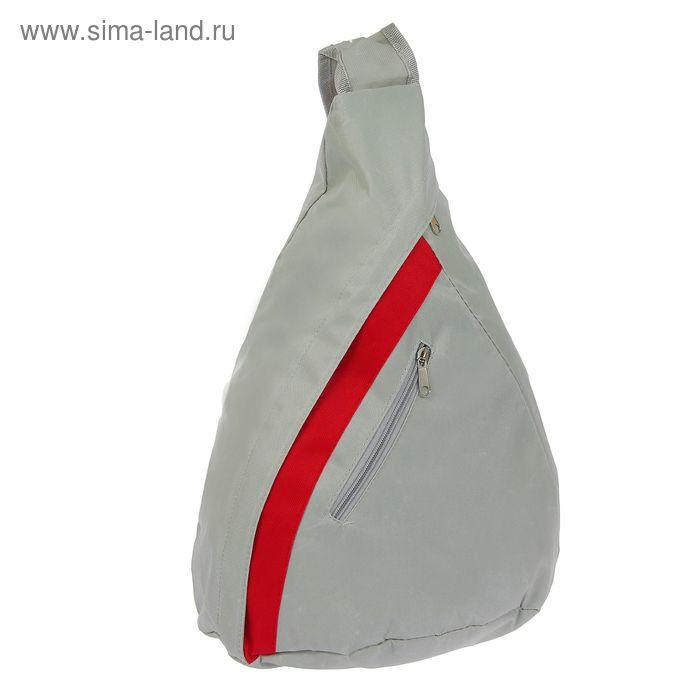 Сумка-рюкзак спортивная Sport, 1 отдел, 2 наружных кармана, серый
