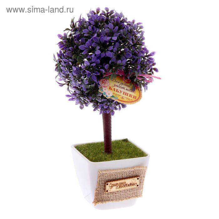"""Дерево искусственное в горшке """"Для самой заботливой бабушки"""", 22 х 10,5 см"""