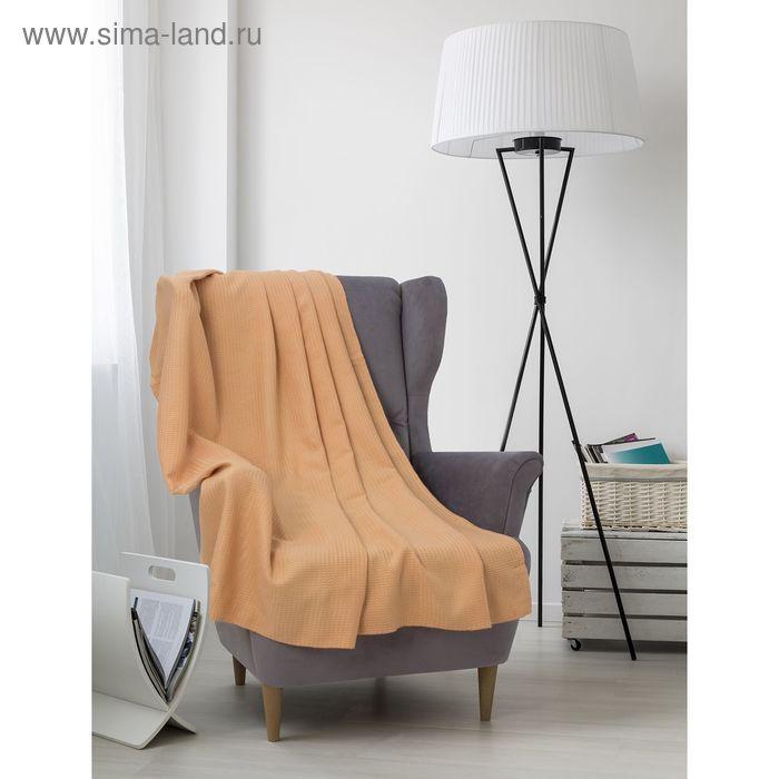 Плед вафельный, размер 170х200 см, 240 гр/м, цвет песочный