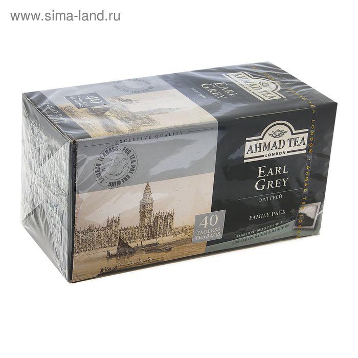 Чай черный Ahmad Earl Grey, бергамот, 40 пакетиков*2 г