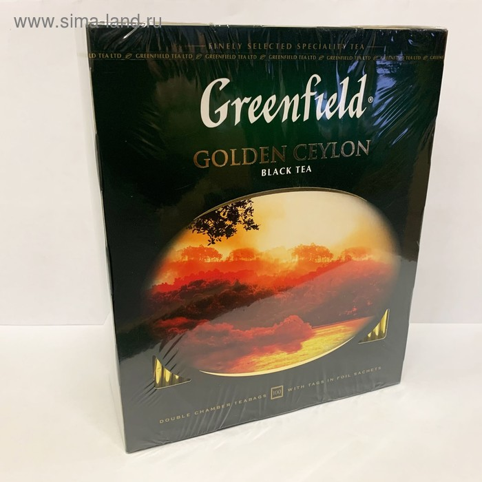 Чай черный Greenfield Golden Ceylon, 100 пакетиков*2 г