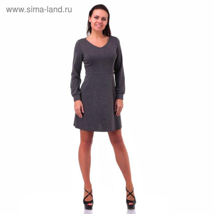 """Платье женское """"Джерси"""", цвет серый, размер 40-42 (S) (арт. Dj28-3)"""