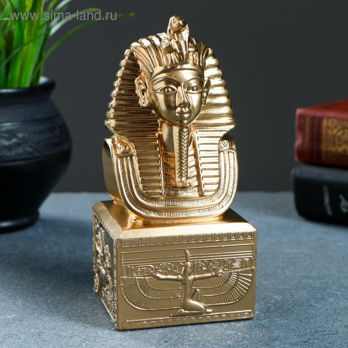 """Статуэтка """"Маска фараона"""" золото"""