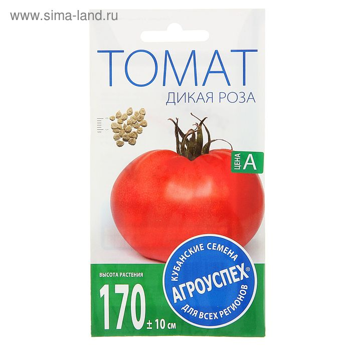 Семена Томат Дикая роза, средне-ранний, высокорослый, жароустойчивый, розовый, 0,1 гр