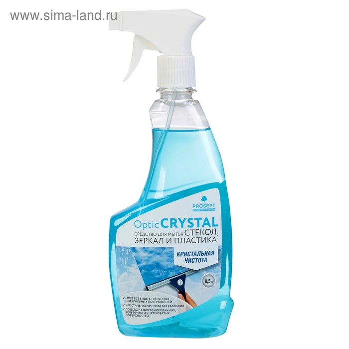 Средство для мытья стекол и зеркал Optic Crystal. Готовое к применению, 0,5л