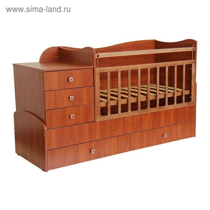 Детская кровать-трансформер «Фея 1400», цвет орех