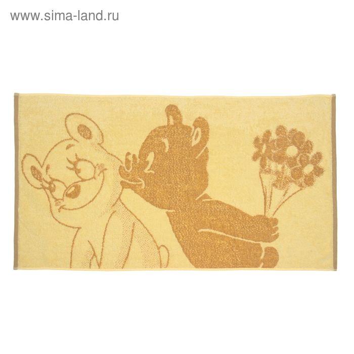 Полотенце махровое Bear Kiss, размер 50х90 см, 420 гр/м2
