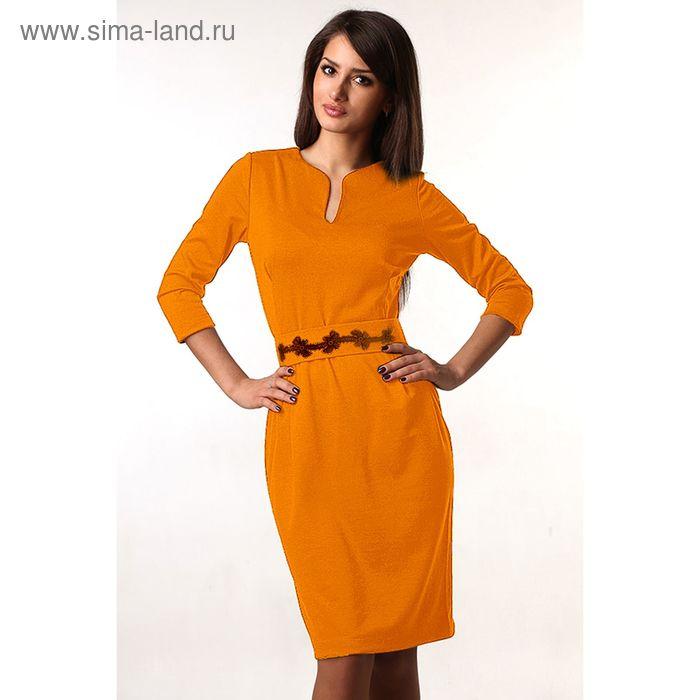 Платье женское М-216-05 горчица, р-р 44
