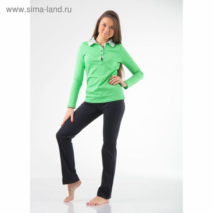 Комплект женский (джемпер+брюки) М-254-09, салат+темно-синий, р-р 42