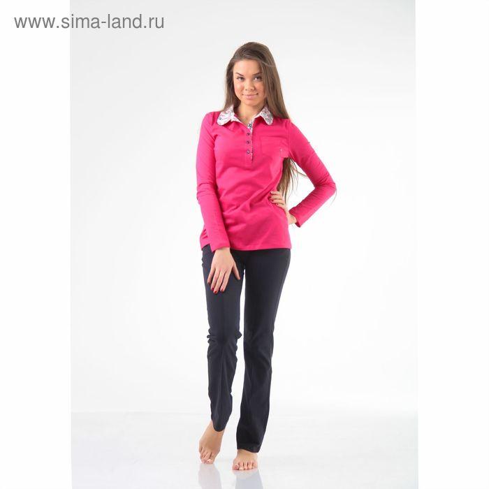 Комплект женский (джемпер+брюки) М-254-09, малина+темно-синий, р-р 48
