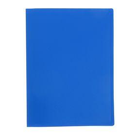 Папка с 10 прозрачными вкладышами А4, 400мкм, синяя