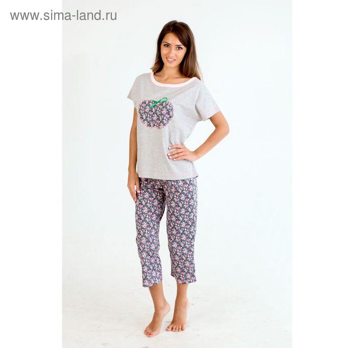 Комплект женский (футболка, бриджи) Амели МИКС, р-р 56
