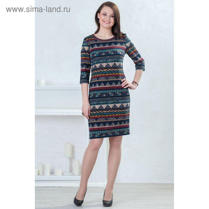 Платье женское 4361, размер 44, рост 164 см, орнамент