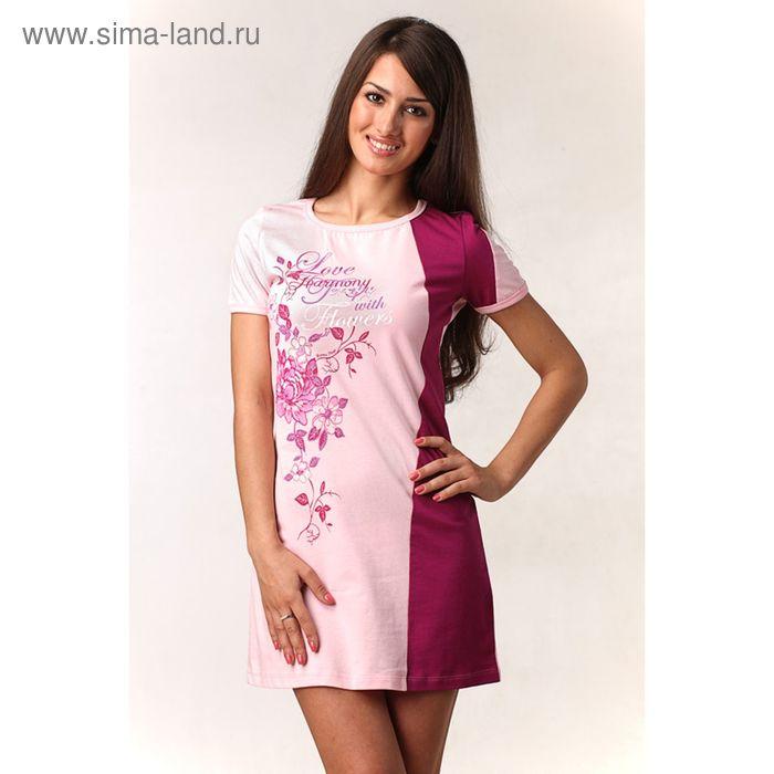 Платье женское М-435-09 роза+фуксия, р-р 52