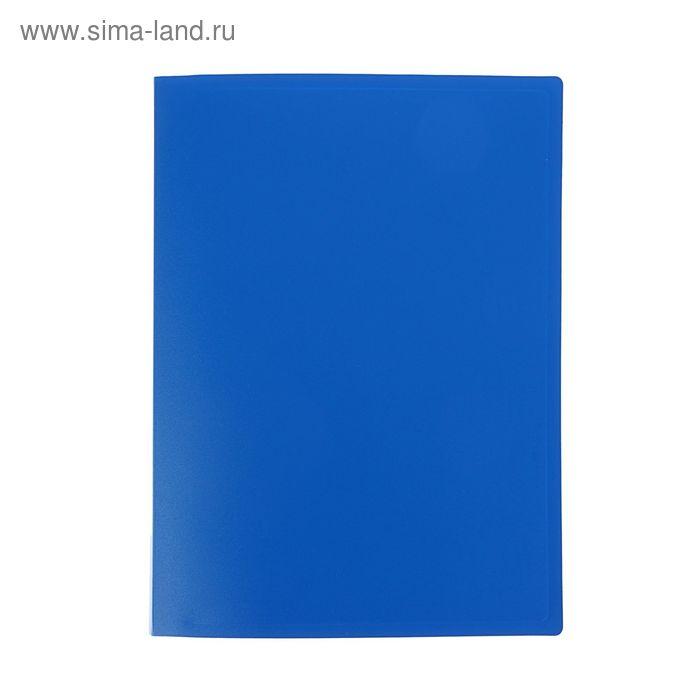 Папка с 40 прозрачными вкладышами А4, 400мкм, синяя