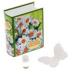 """Подарочный набор в книге-шкатулке """"Больше счастливых моментов"""": аромасаше из гипса и эссенция, цветочный аромат"""
