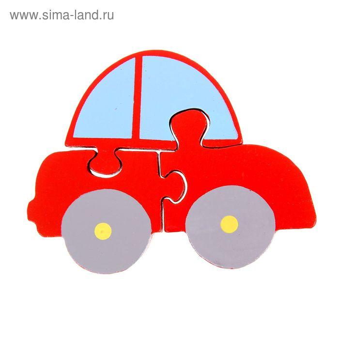 """Пазл фигурный """"Автомобиль"""", 3 элемента"""