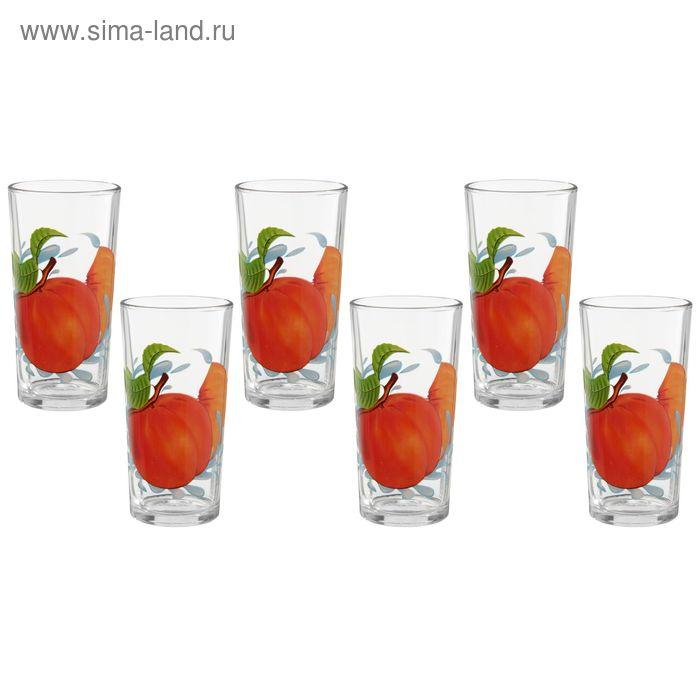 """Набор стаканов 200 мл """"Персик"""", 6 шт"""
