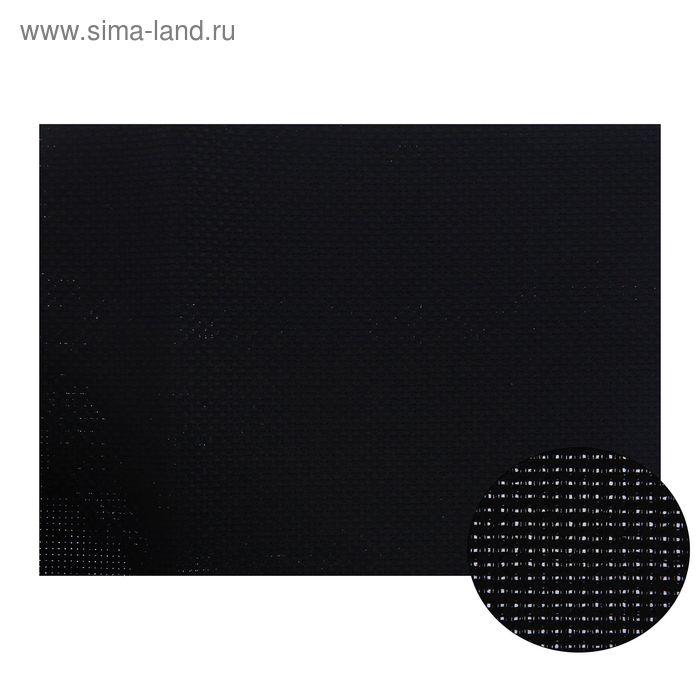 Канва для вышивания, Aida №14, 30х40см, цвет чёрный