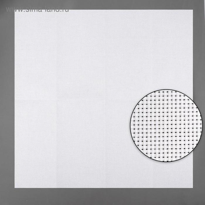 Канва для вышивания, Aida №11, 50х50см, цвет белый