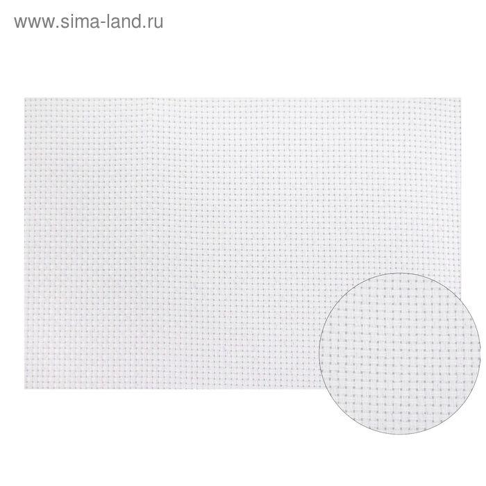 Канва для вышивания, Aida №11, 30х40см, цвет белый с перламутровым люрексом