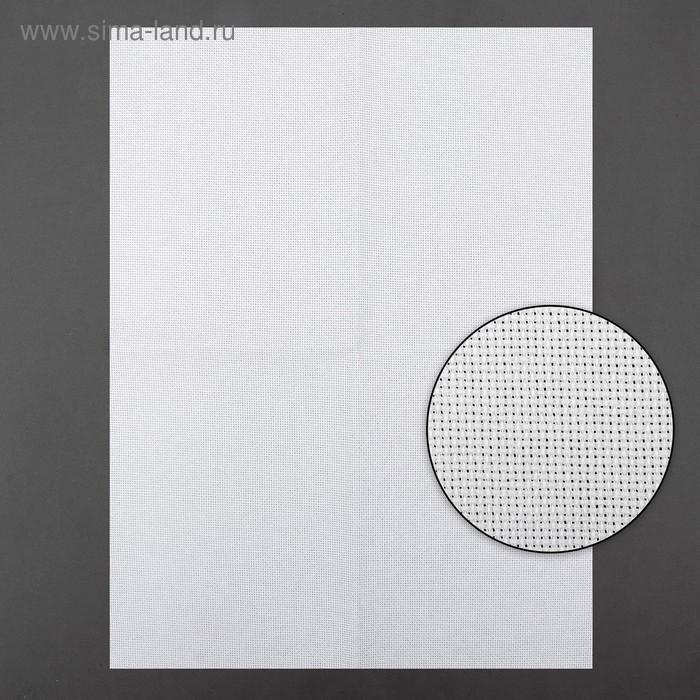 Канва для вышивания, Aida №18, 30х40см, цвет белый