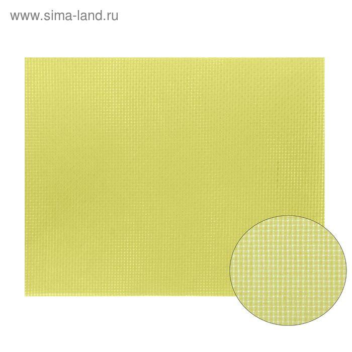 Канва для вышивания, Aida №14, 30х40см, цвет светло-жёлтый