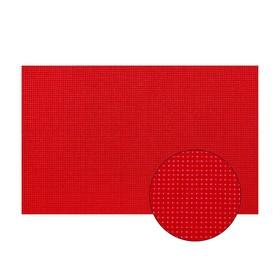 Канва для вышивания №11, 30х20см, цвет красный