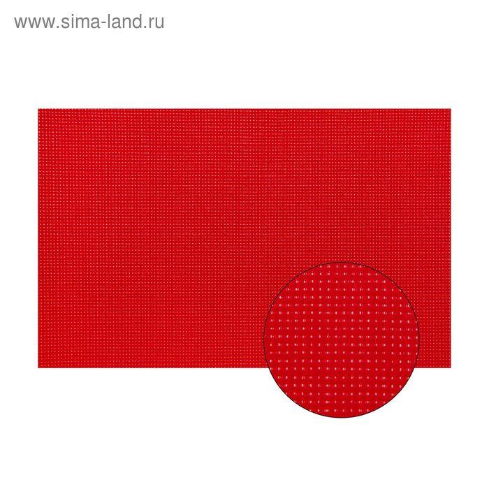 Канва для вышивания №11, 60х40см, цвет красный
