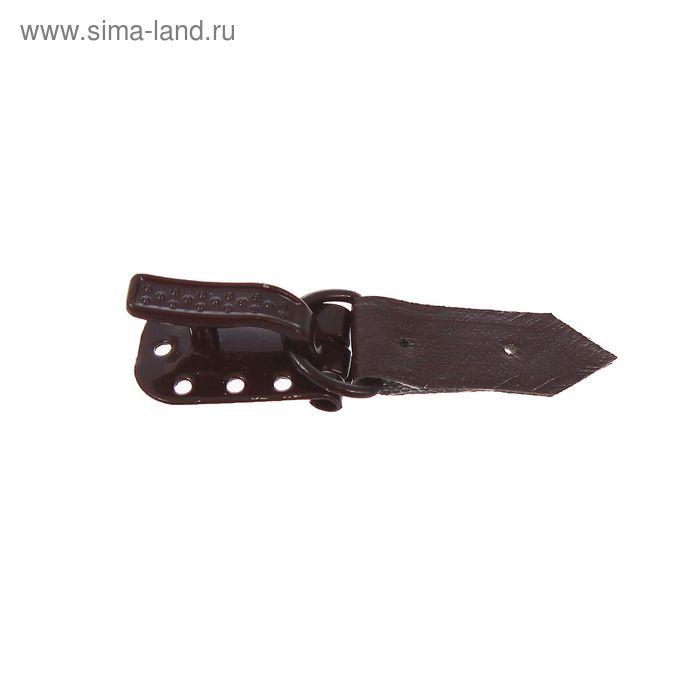 Крючок для верхней одежды металлический, коричневый