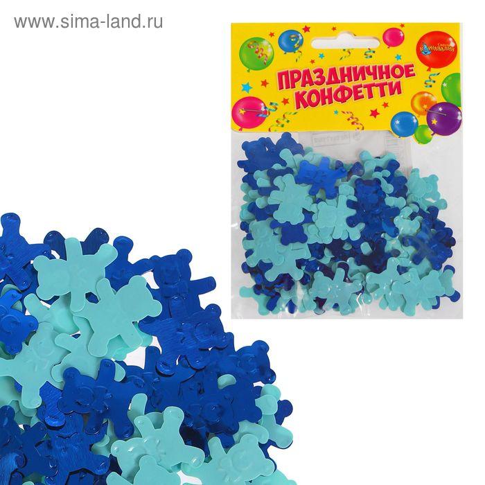 "Конфетти ""Мишки"" 14 грамм, цвет голубой"