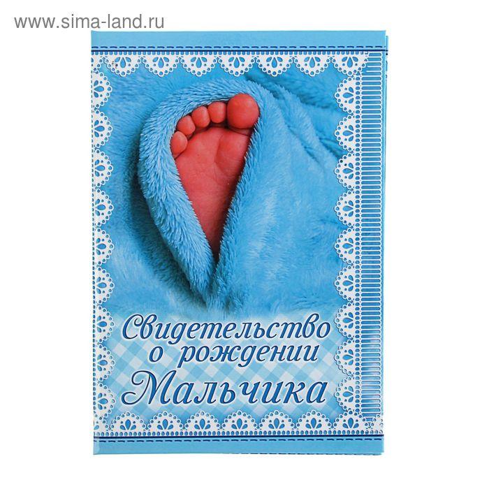 Папка картон под свидетельство о рождении Мальчика