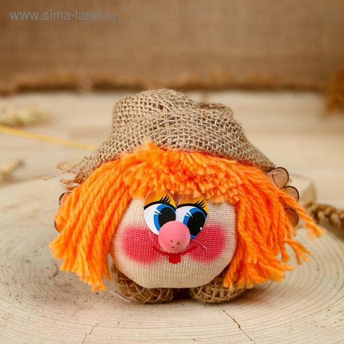 Оберег  домовой в кепке цветной парик