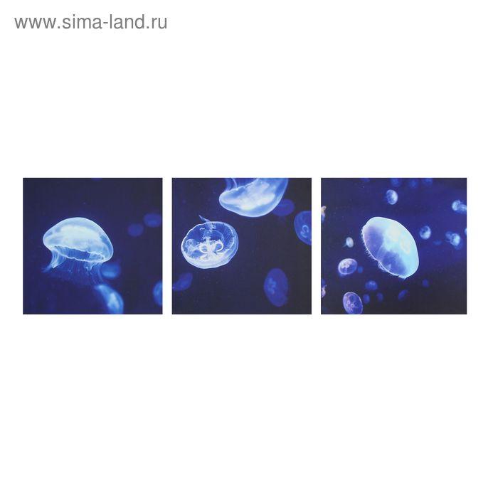 """Модульная картина на холсте с подрамником """"Медузы"""""""